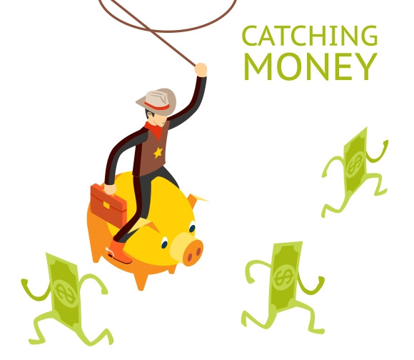 Catching Money Concept