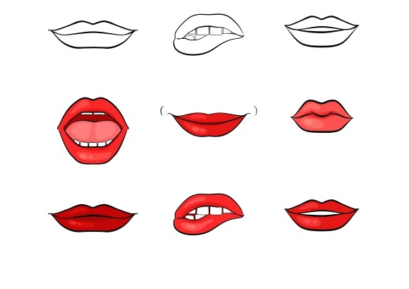 Mouth Lips Template on cartoon mouth patterns