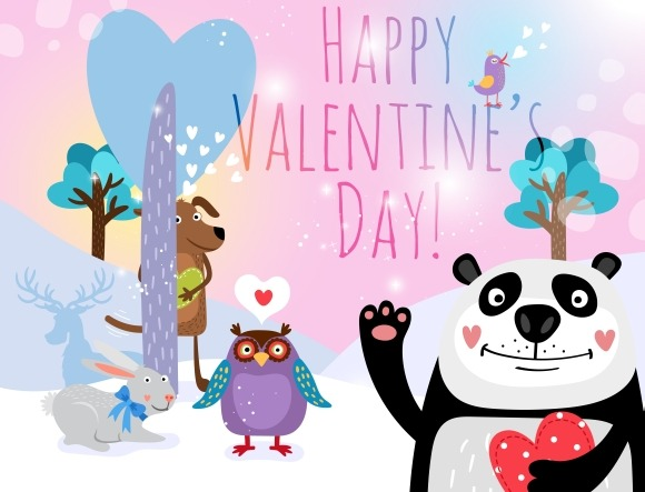Vector Animals With Hearts