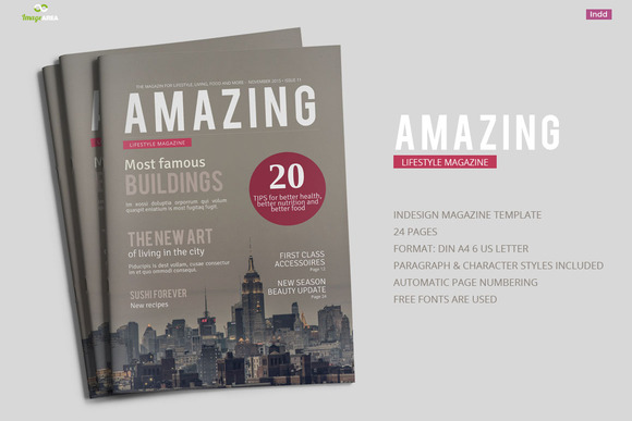 Amazing Magazine Template