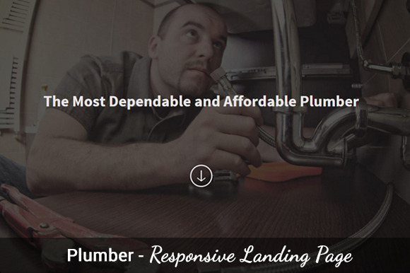 Plumber One Page Template