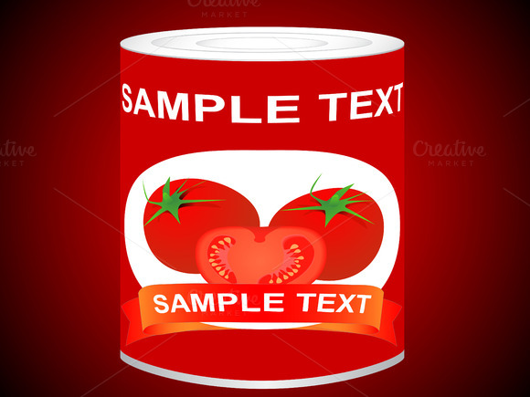 Canned Tomato Vector Illustration