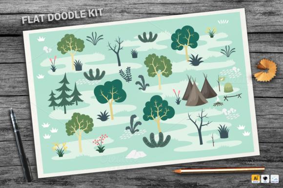 Forest Flat Doodle Kit