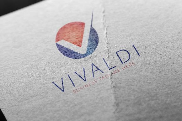 Vivaldi V Letter Logo