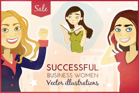 Business Women Vector Illustrations