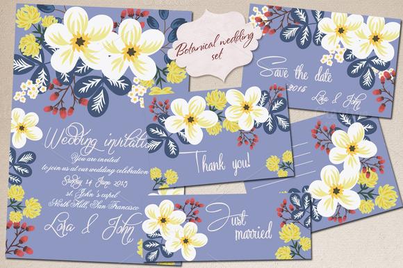 Botanical Wedding Set