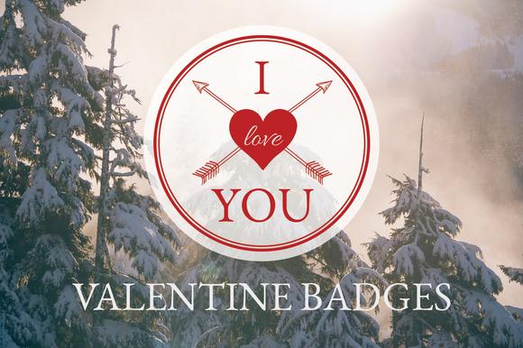 Valentine Badges