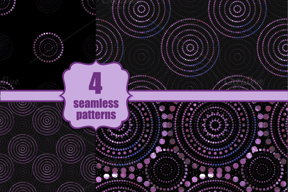 4 Abstracts Seamless Patterns
