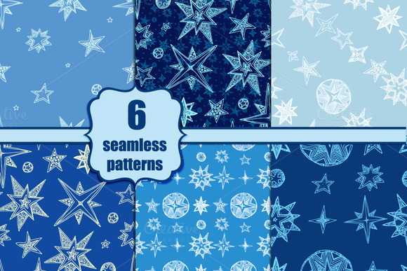 Seamless Starry Pattern Set