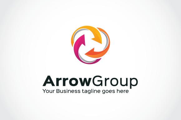Arrow Group Logo Template