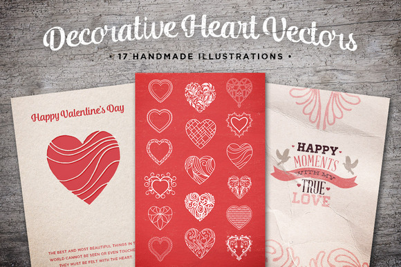 Decorative Heart Vectors Volume 1