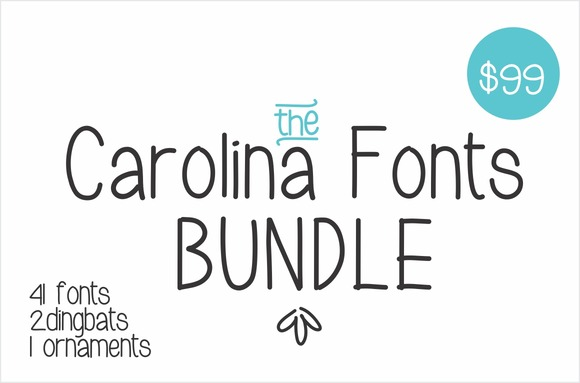 The Carolina Fonts Bundle