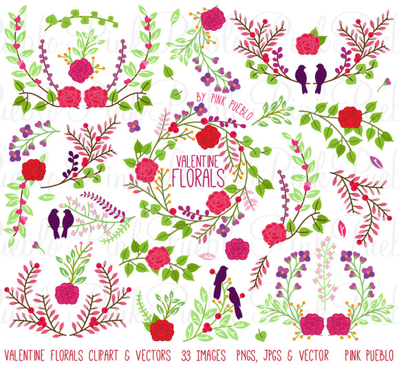 Valentine S Day Florals And Laurels