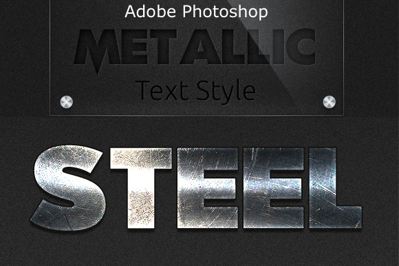 Metallic Text Styles For Photoshop