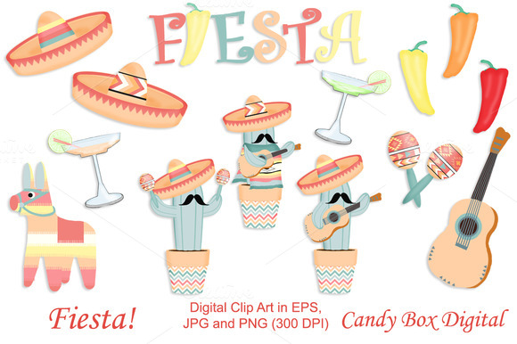 Fiesta Clip Art With Vectors