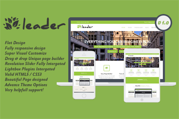 Leader Flat WordPress Theme