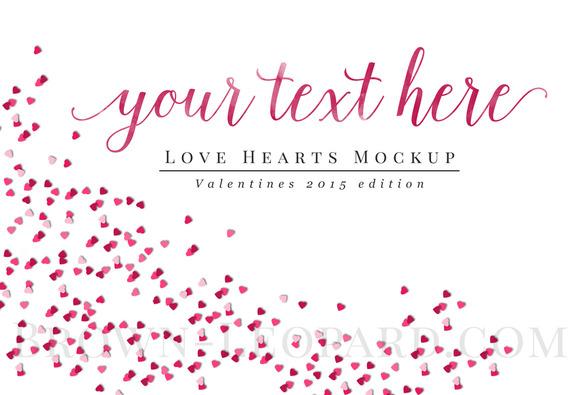 Mockup Valentines Theme