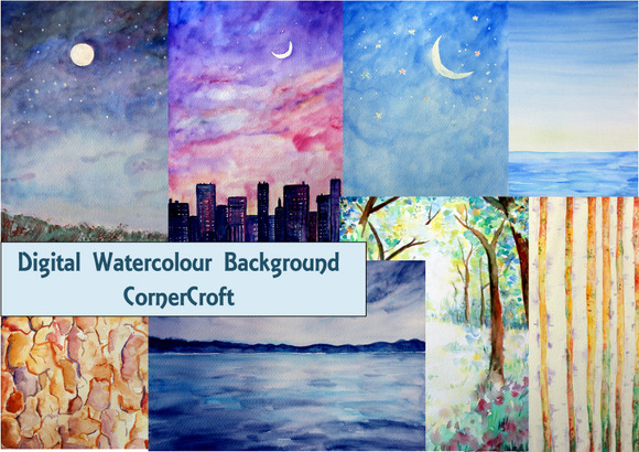 Watercolor Nature Background 2