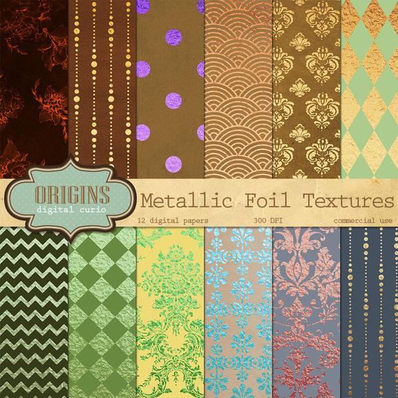 Metallic Foil Digital Paper