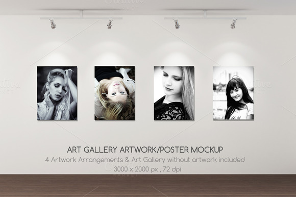 Art Gallery Artwork Poster Mockup