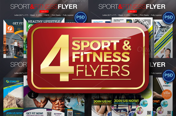 Sport Fitness Flyer Bundle
