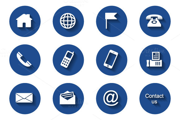 12 Round Contact Icons
