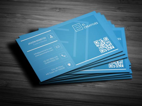 Blue Simple Corporate Business Card