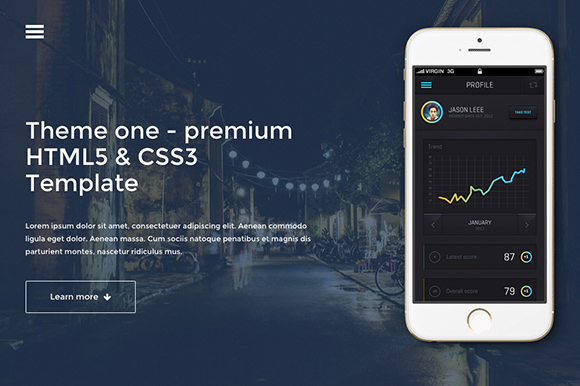 ThemeOne One Page Website Template