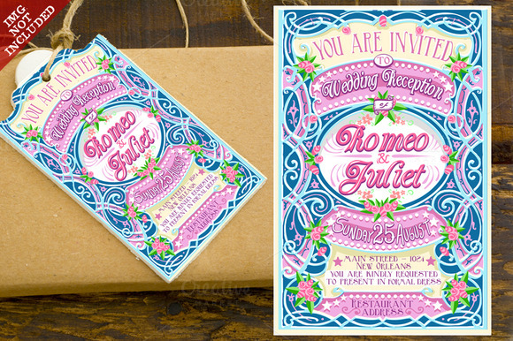 Floral Wedding Invitation In Pink