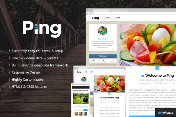 Ping Charming Personal WP Theme