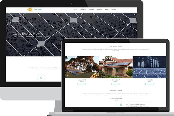 Solar Panels-Solar Energy Template