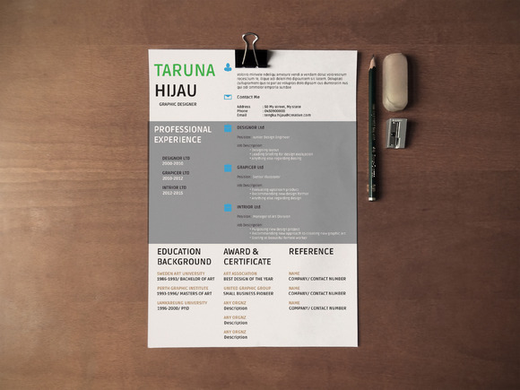 Minimalist Resume And Cover Letter