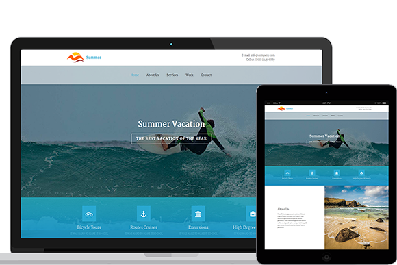 Summer HTML5 And CSS3 Template