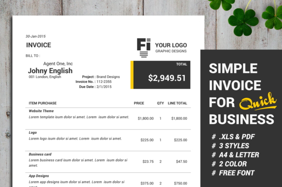Simple Invoice Automatic Calculate