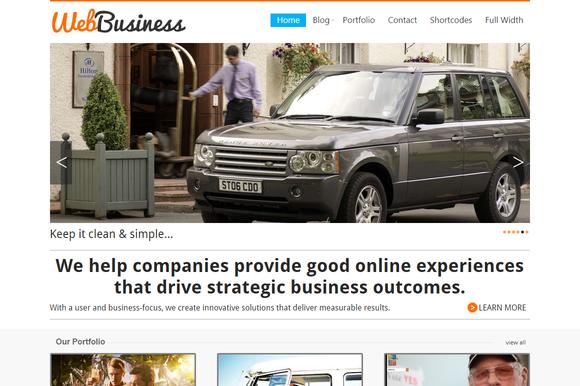 WebBusiness Business Portfolio Theme