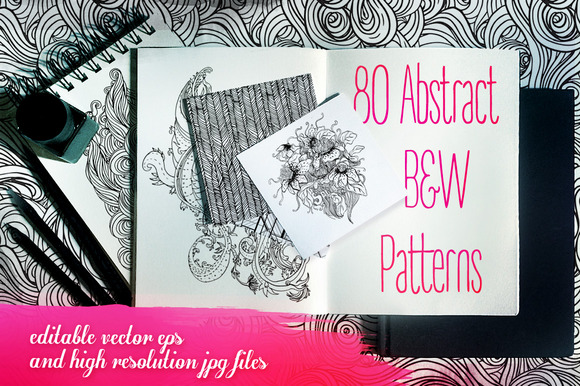 80 B W Abstract Patterns