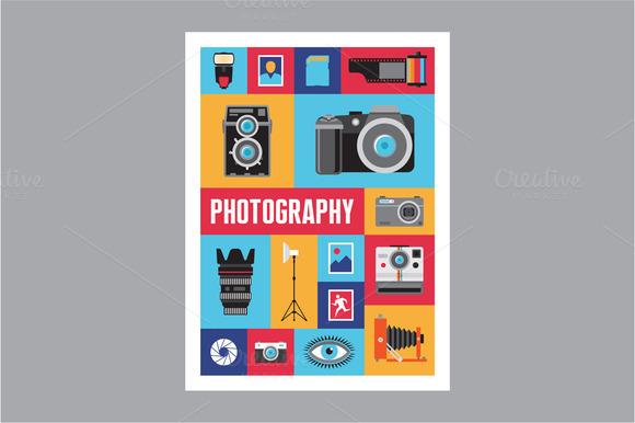 Photography Mosaic Flat Poster