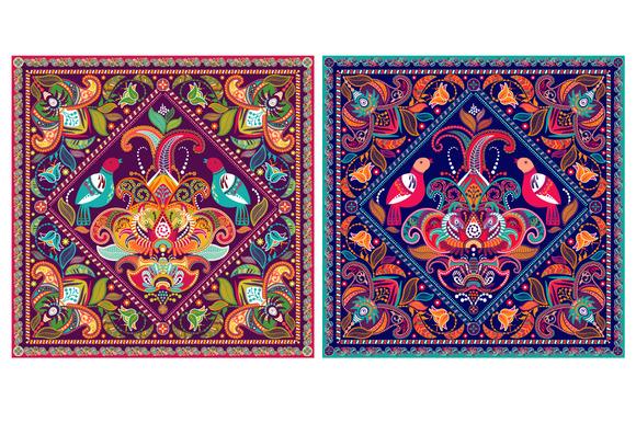 2 Square Ornamental Pattern