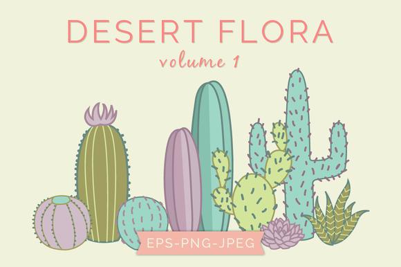 Cactus Plants Vector Clip Art
