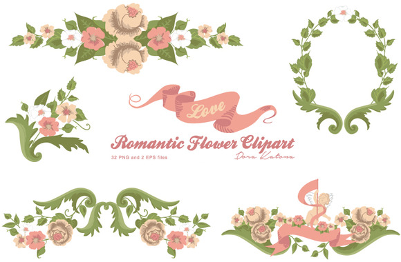 Romantic Flower Clipart