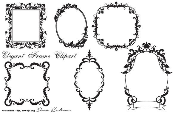 Elegant Frame Clipart Vector EPS