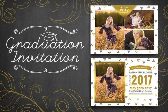 Graduation Invitation Triangle