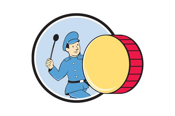 Brass Drum Marching Band Drummer Cir
