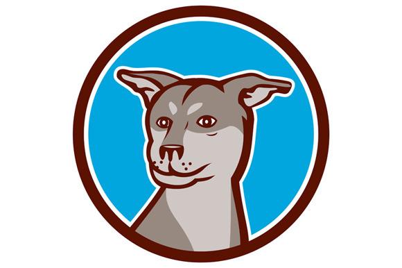 Husky Shar Pei Cross Dog Head Cartoo