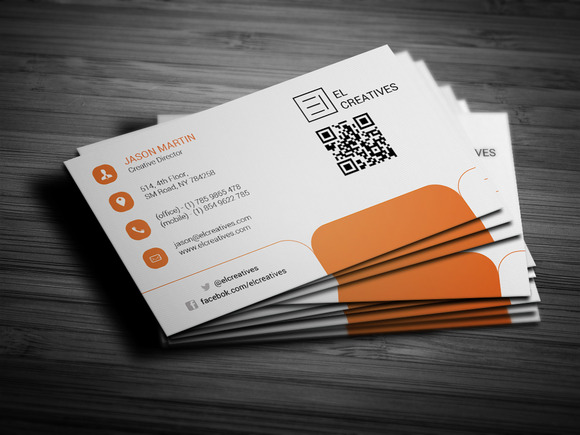 Orange Creative Business Card