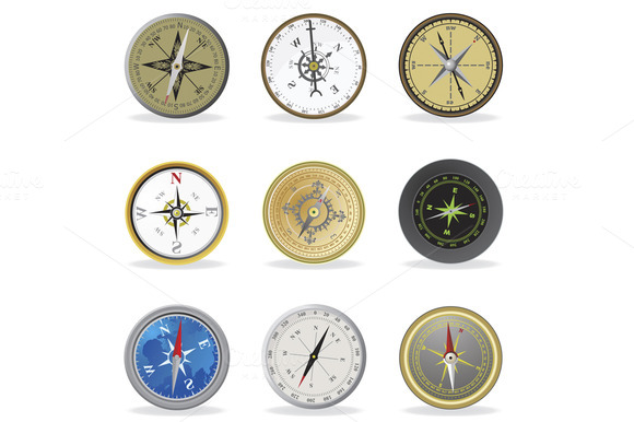 Compass Set Icons