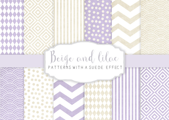 Beige And Lilac Patterns