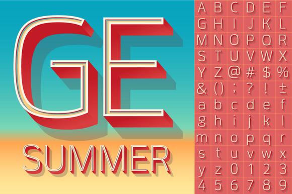 Summer Compact Alphabet