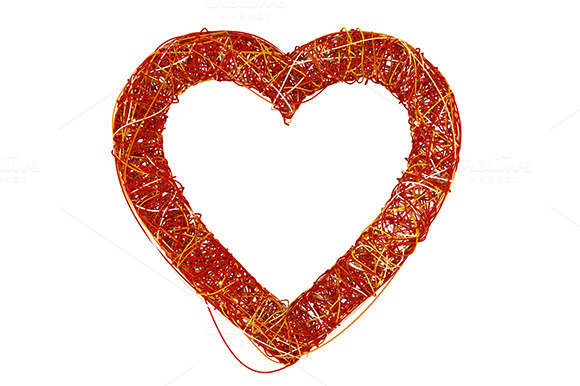Red Heart Made Of Fibre
