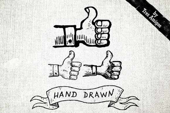 Thumbs Up Hand Drawn Icons